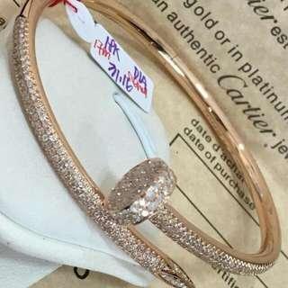 Cartier Bangle with Real Diamonds