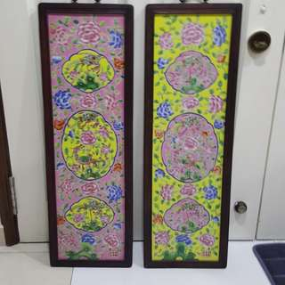 Peranakan tiles wall hanging