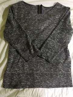 Gray Mid-arm length Top