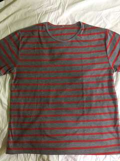 Gray and Red striped shirt