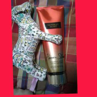 Victoria Secret lotion  and vs dog toy