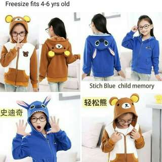 Character Hooded Jacket for Kids
