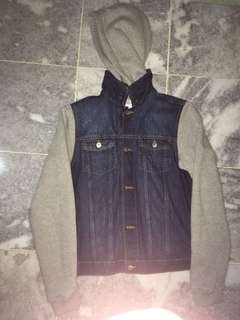 Jeans Jacket With Hoodie