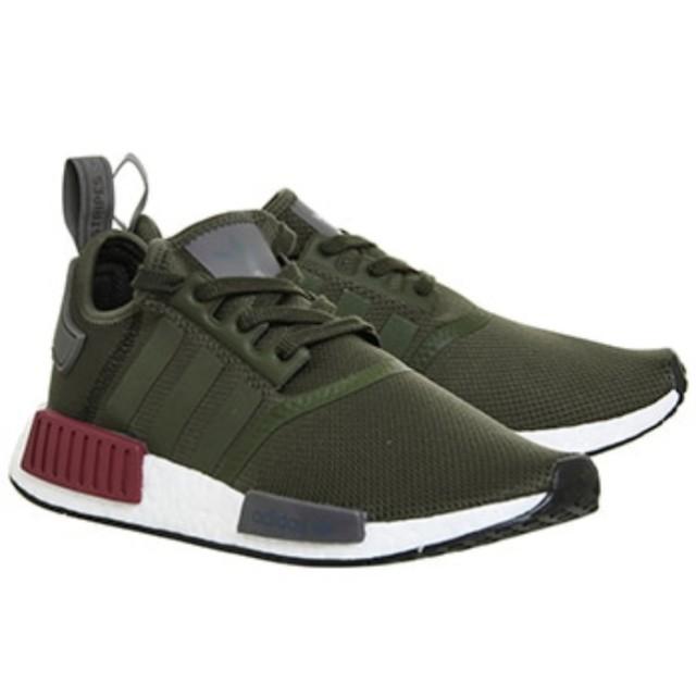 Adidas NMD R1 Khaki Green Olive Maroon 0061527306