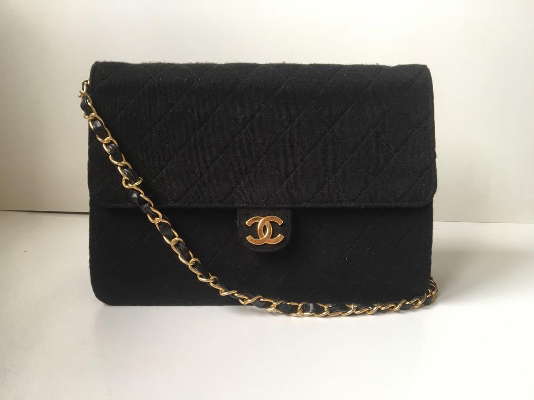 8700a981666 Authentic Chanel Vintage Classic Canvas Flap Bag, Women's Fashion ...
