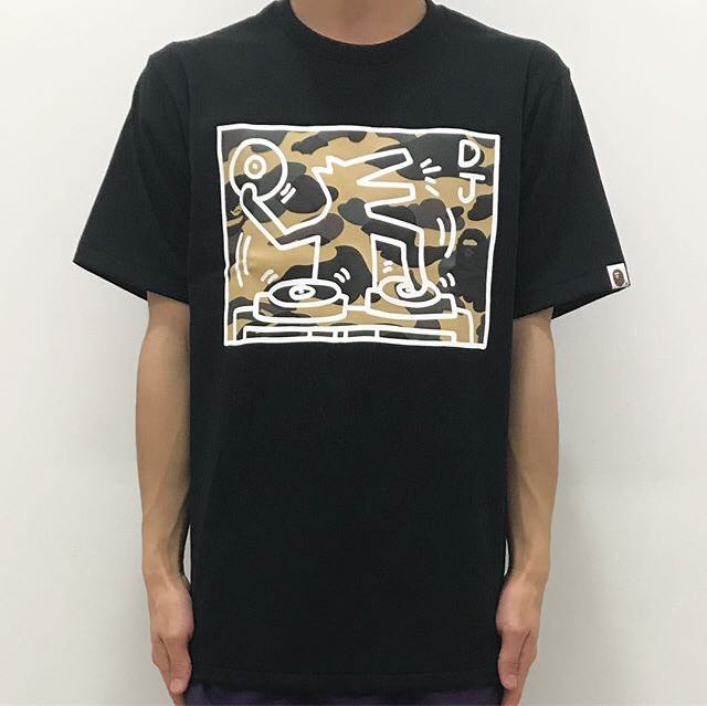 f42c5bdb BAPE X KEITH HARING TEE #5, Men's Fashion, Clothes on Carousell