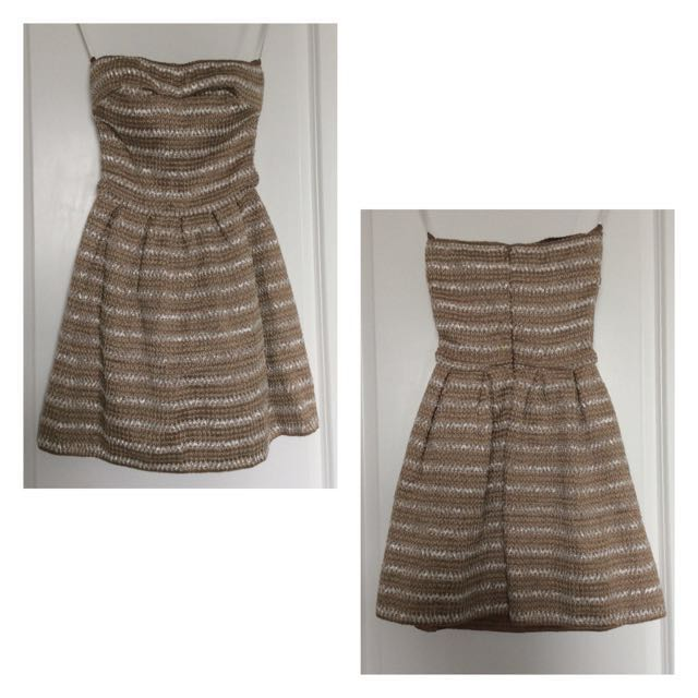 BEBE Strapless Fit & Flare Dress (BNWT)