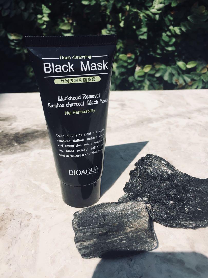 Bioaqua Bamboo Charcoal Black Mask Health Beauty Skin Bath Masker Body On Carousell