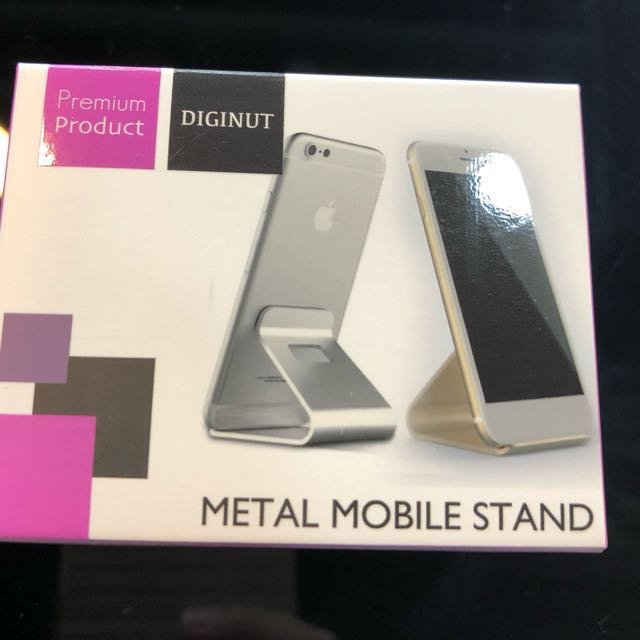 [BN] Chrome Metal Mobile Phone Stand (Cheap giveaway offer)