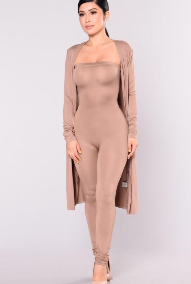 Brand New Fashion Nova Duster and Jumpsuit set