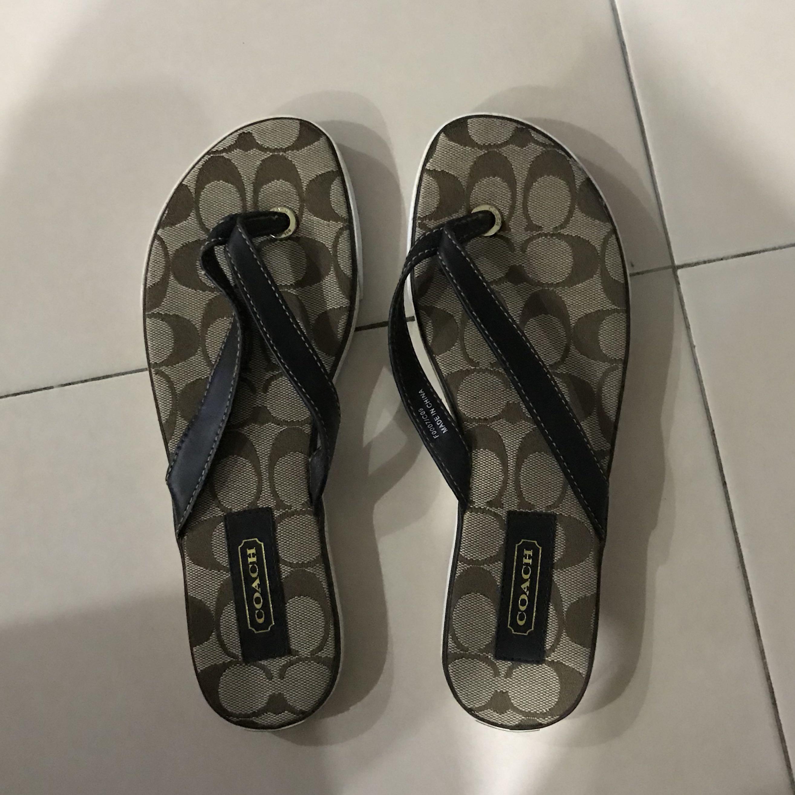 Coach slipper