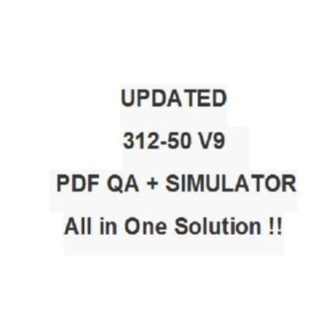 EC-Council 312-50V9 Certified Ethical Hacker V9 312-50 Test CEH Exam QA PDF+SIM