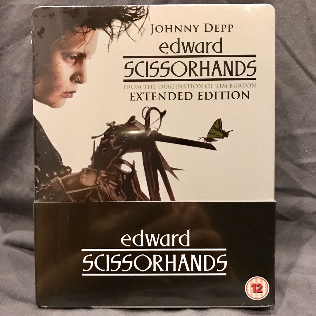 EDWARD SCISSORHANDS Bluray + DVD Extended Edition Blu-ray Steelbook UK-Import OOP US$39 | S$49