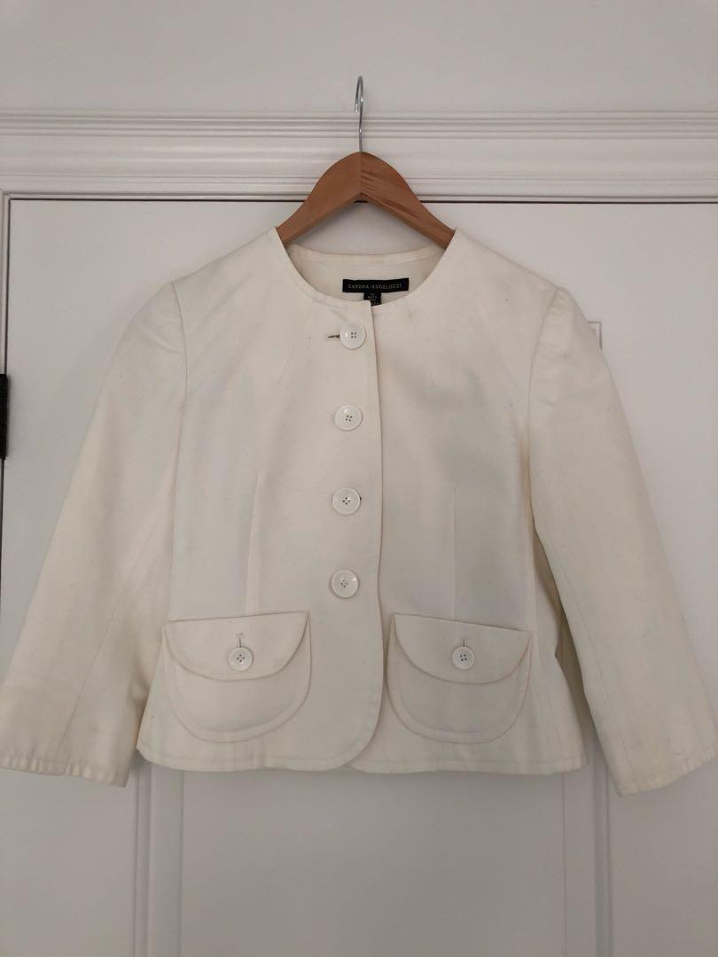 Femme de Carriere white jacket
