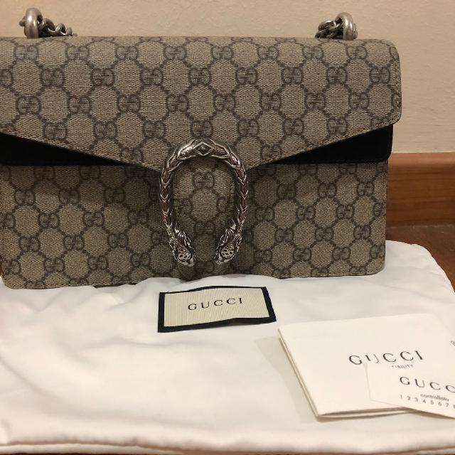 e610b7930 Gucci Dionysus GG Supreme Shoulder Bag 400249 Black, Luxury, Bags ...