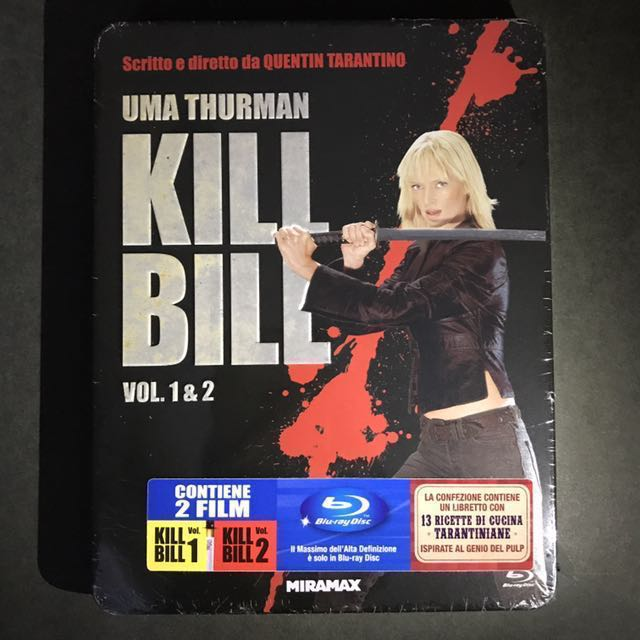 KILL BILL VOL. 1 & 2 Blu-ray Limited Edition Bluray MetalPak OOP US$78/S$97