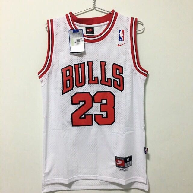 detailed pictures 1aa80 af73a (L) Chicago Bulls #23 Michael Jordan Jersey White