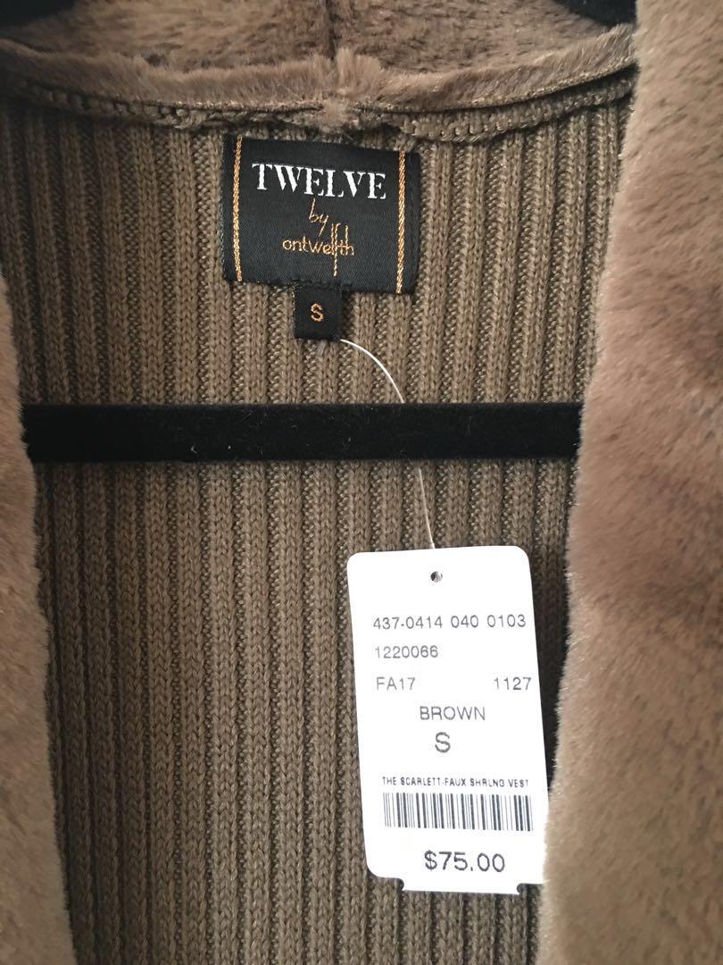 M by Mendocino velvet faux fur vest