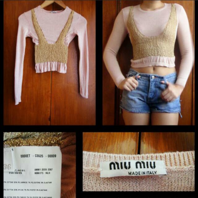 Miu Miu Crop Sweater