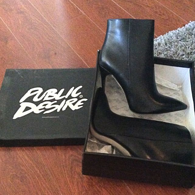 *NEW PRICE* Black Leather Booties