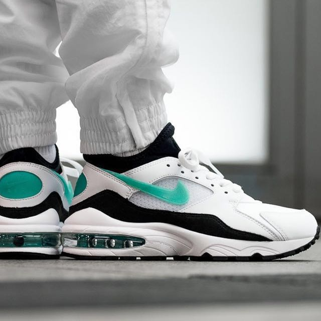 "bb60f566a4 Nike Air Max 93 OG ""Dusty Cactus"" Sport Turquoise/Black/White, Men's ..."