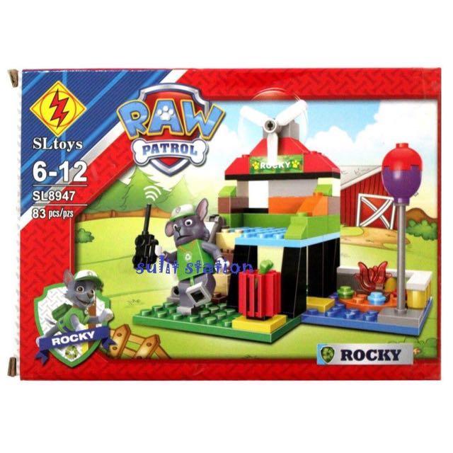 PAW PATROL ROCKY LEGO BLOCKS TOYS 19f40b2207