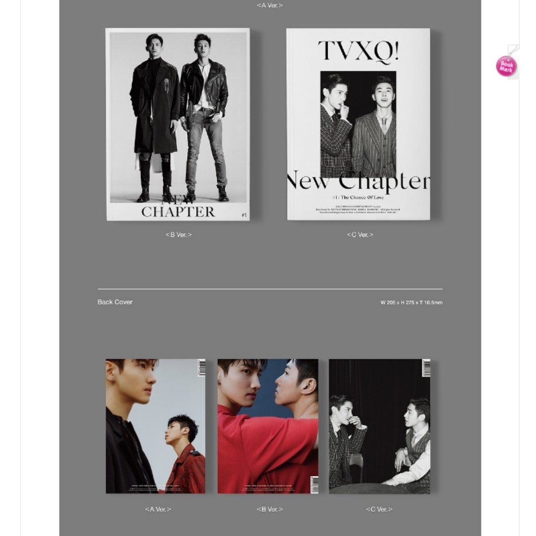 [PO] TVXQ - New Chapter 1 : The Chance Of Love 8th album