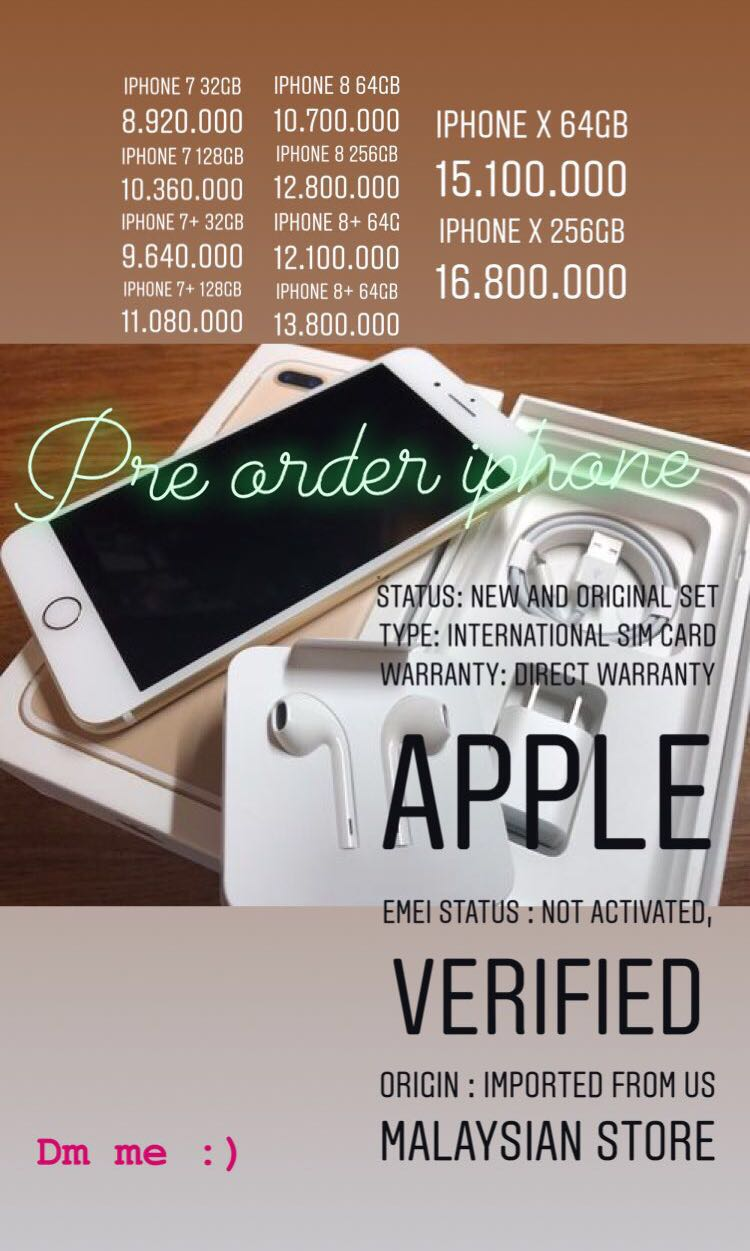 Pre Order Iphone Mobile Phones Tablets On Carousell