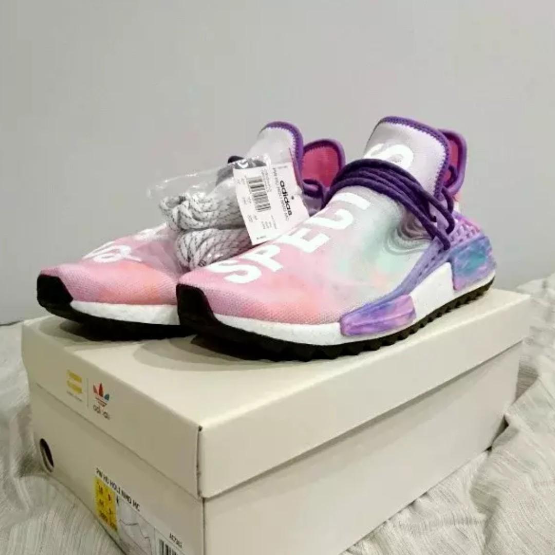 75547b4ad8272 NMD Pharrell Williams Human Race Holi Pack  Pink Glow