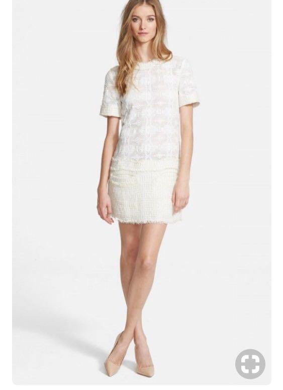 Rachel Zoe Ginger Lace Tweed Dress