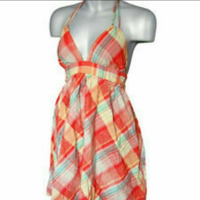 Roxy Plaid Halter Dress