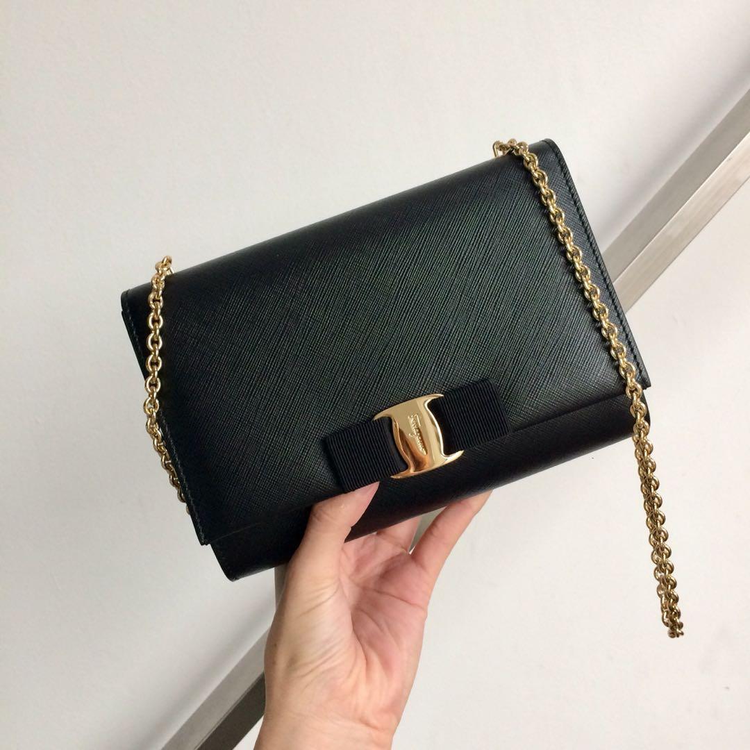 Salvatore Ferragamo Ginny Chain Satchel   Mini Bag, Women s Fashion, Bags    Wallets on Carousell 73017dc211