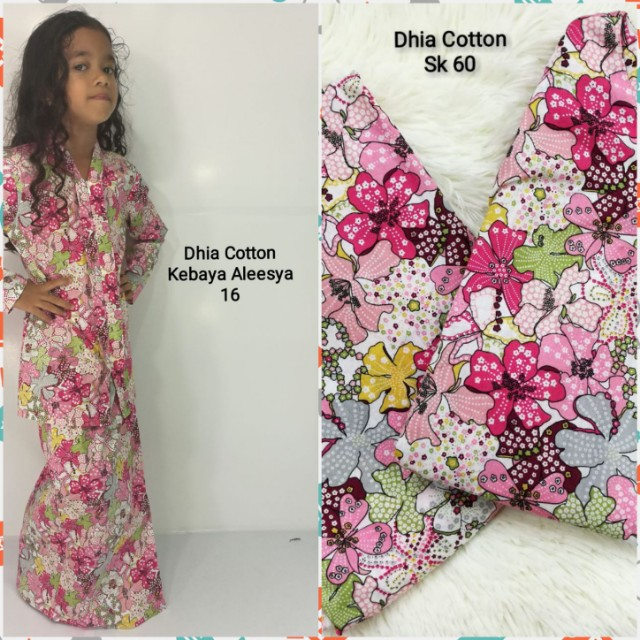 Set ibu & anak (kebaya Aleesya kids & Baju Kurung Moden) Dhia Cotton, Women's Fashion, Clothes, Dresses on Carousell