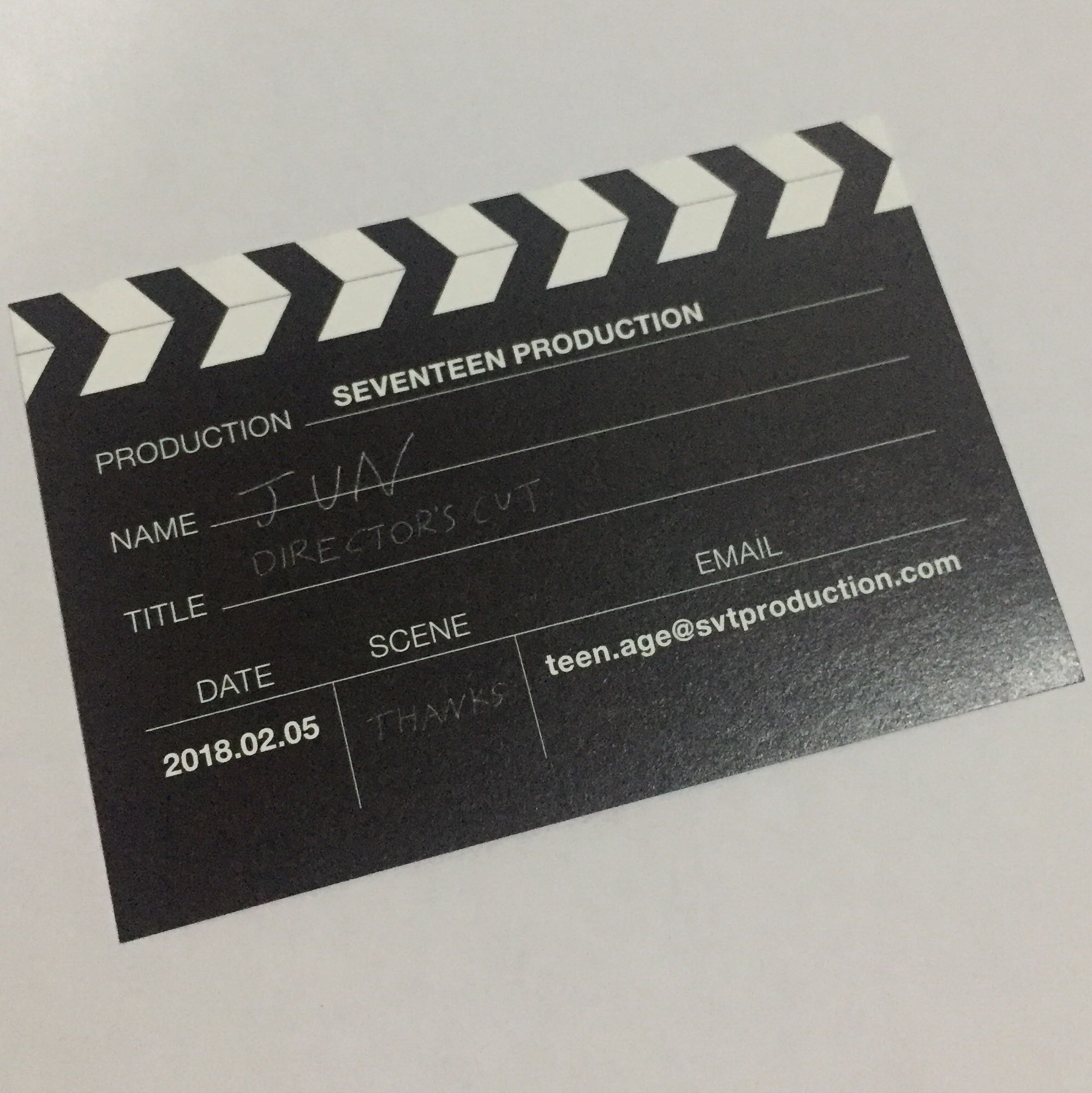 Seventeen Jun Official Director\'s Cut Business Card , K-Wave on ...