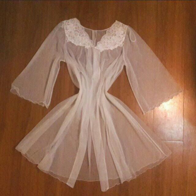 Shadowline Bridal Sheer Robe Lingerie