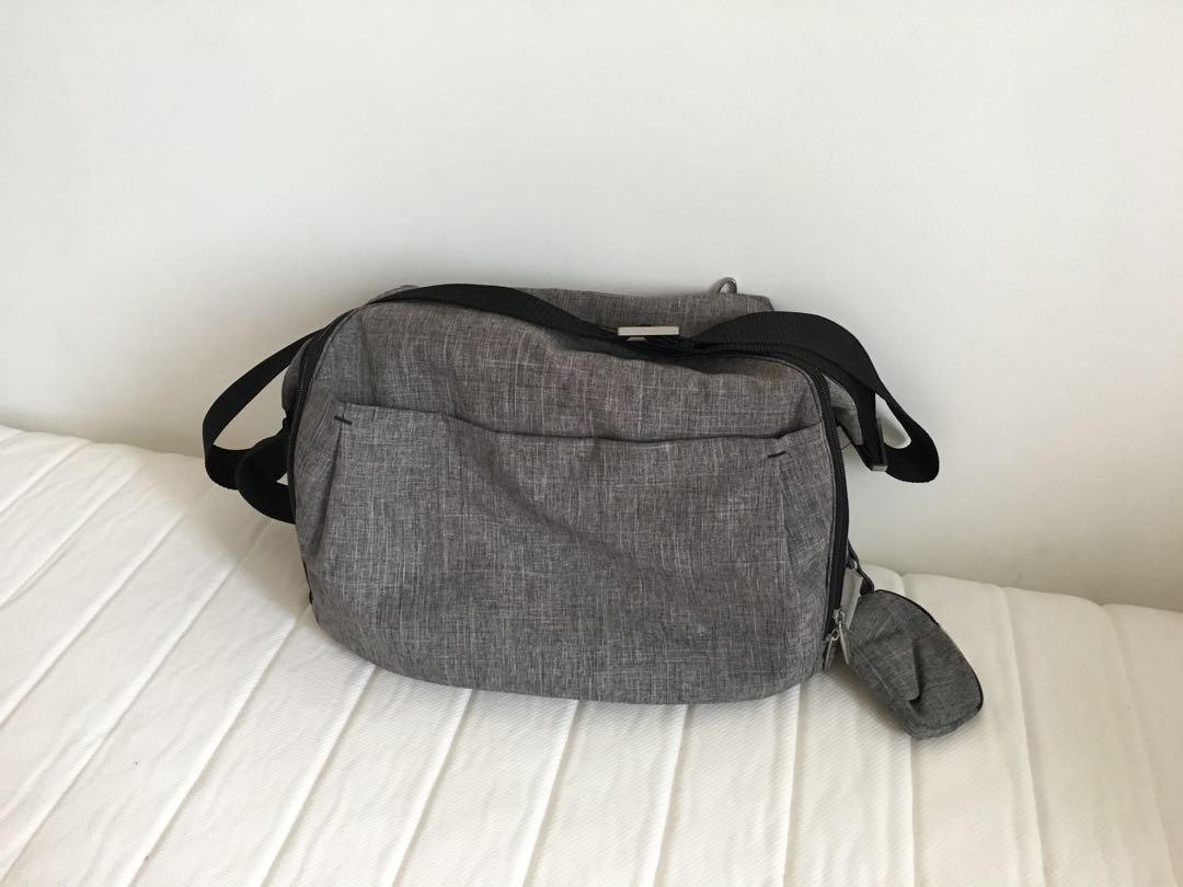 604ce3f08d47d Stokke changing bag - Grey, Women's Fashion, Bags & Wallets on Carousell
