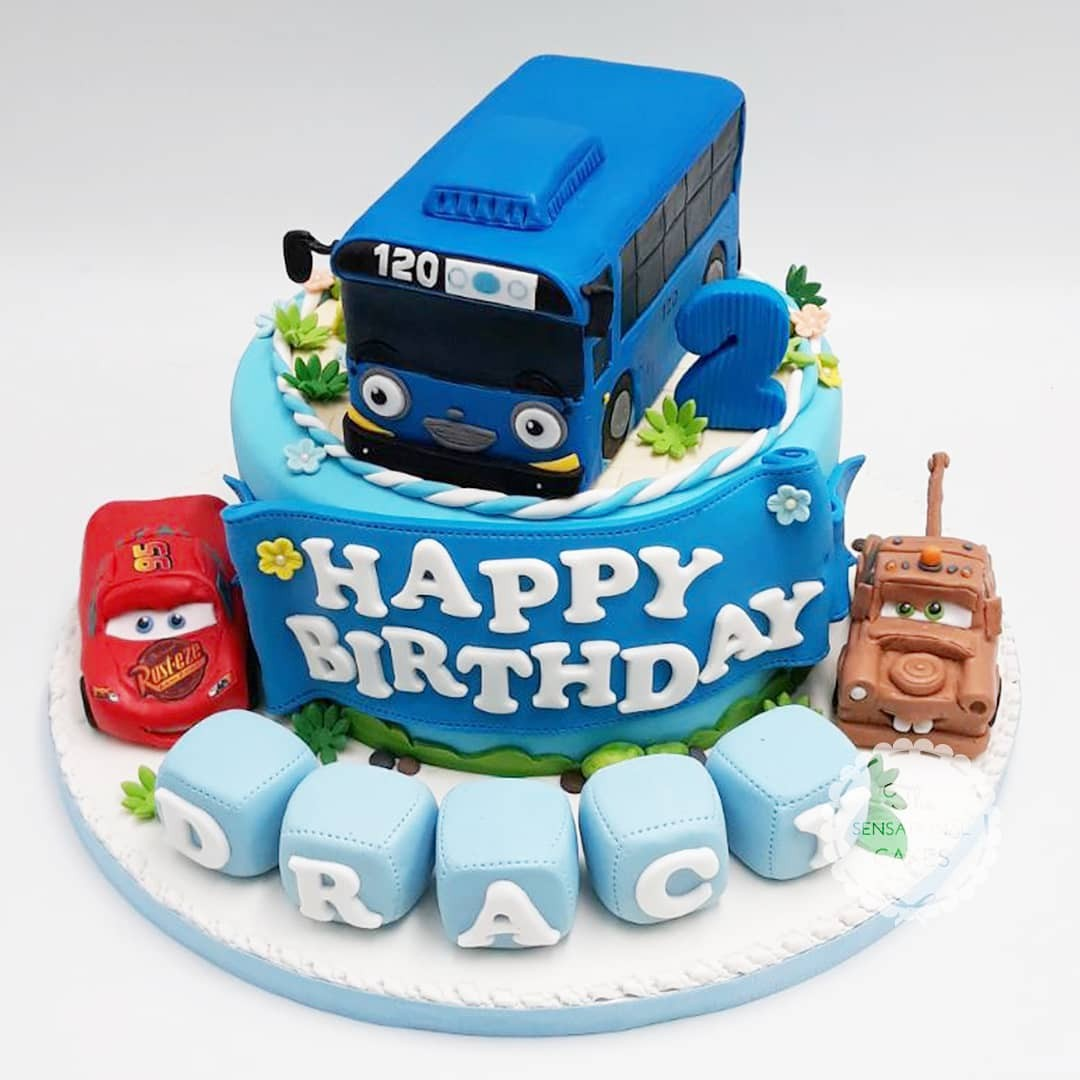 Tayo Bus And Cars For Boys Birthday Cake Singapore SingaporeCake