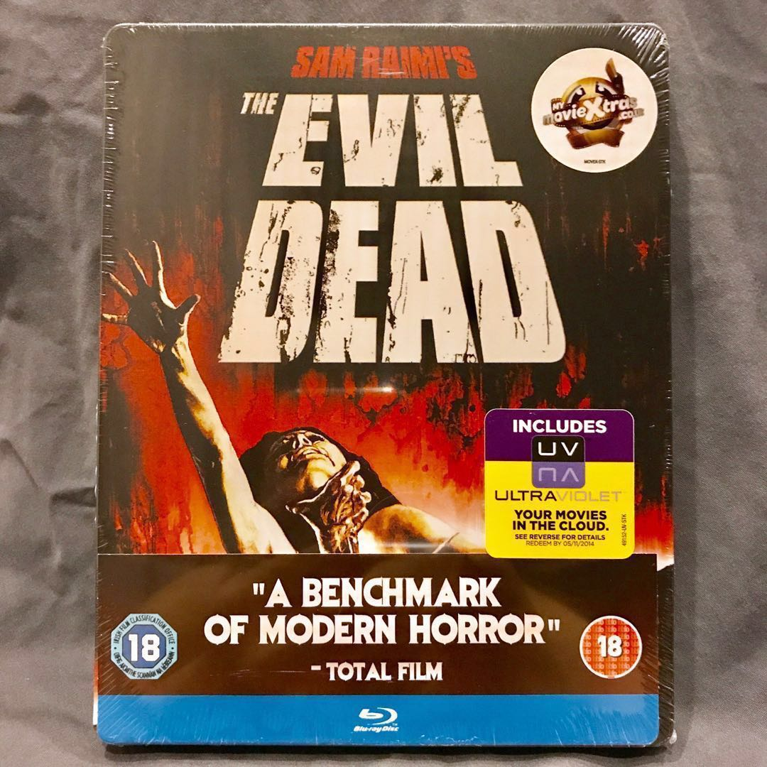 THE EVIL DEAD (1981, UK, Region Free) Blu-ray Steelbook Brand New Sealed Mint OOP [Bluray]