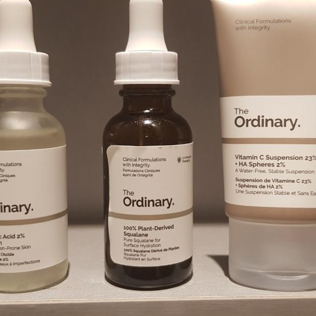The ordinary skin care