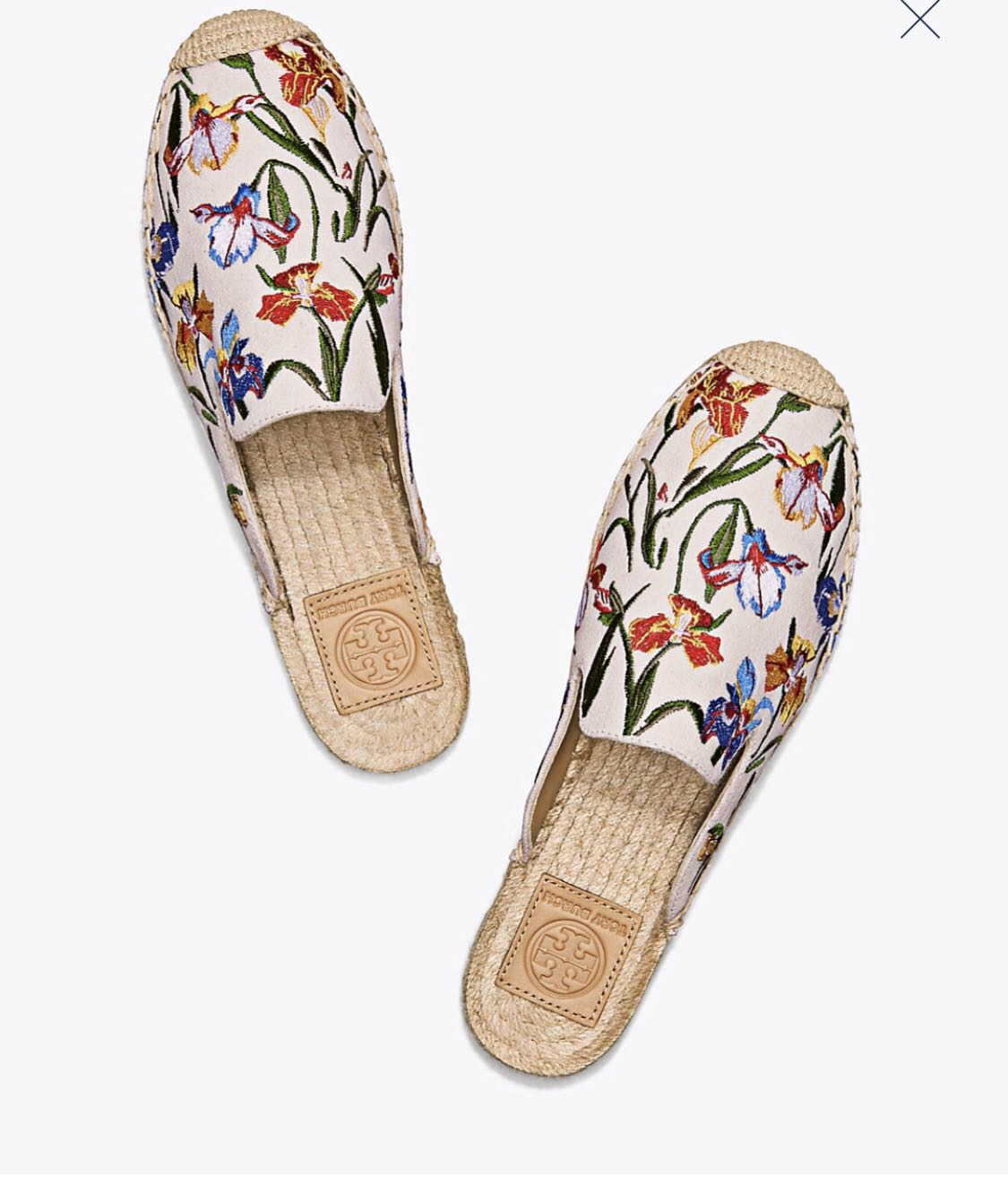 ff91c8516f9b Tory Burch Max Embroidered Espadrilles Slides. Size5