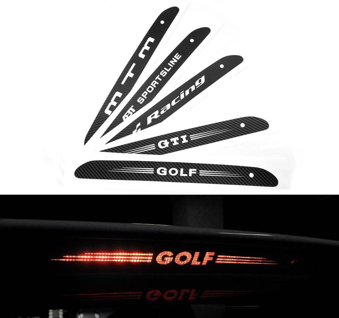 Volkswagen golf 7 carbon fibre look sticker car accessories on carousell