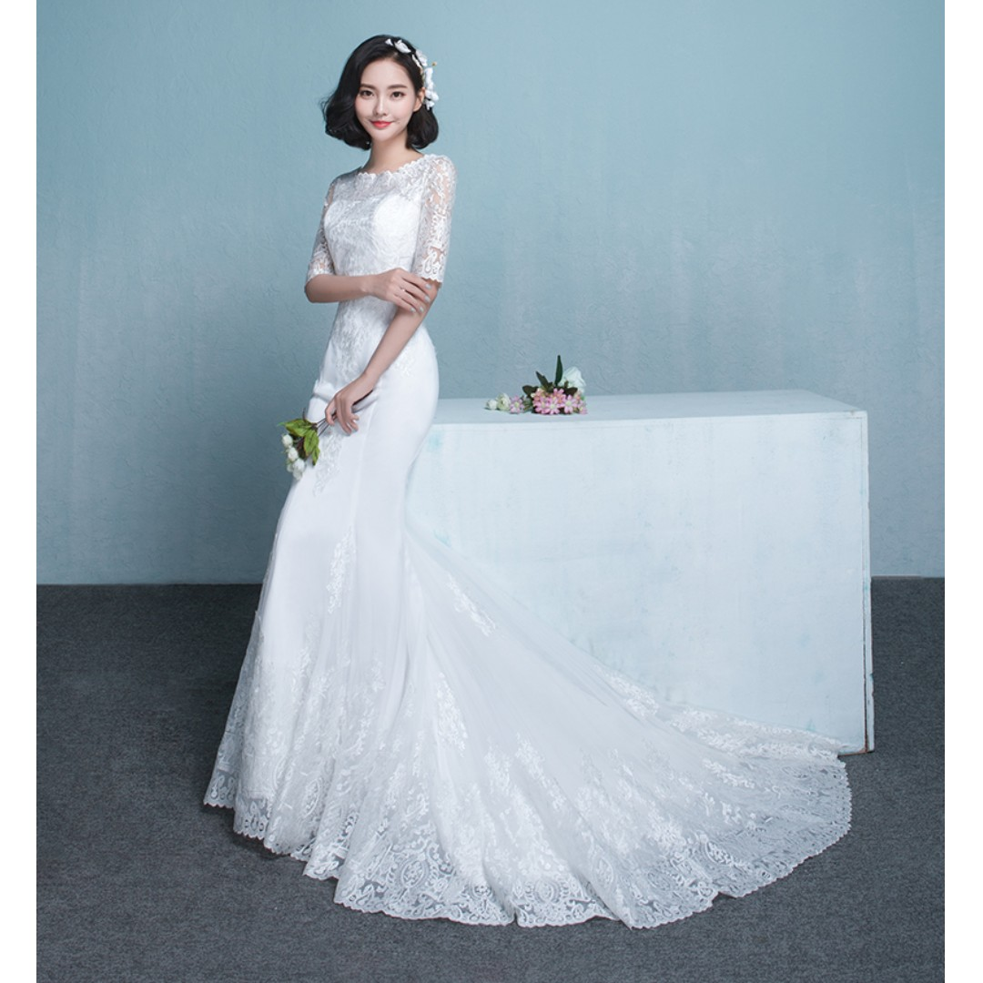 Wedding Collection - Korean Style Romantic Mermaid Style Wedding ...