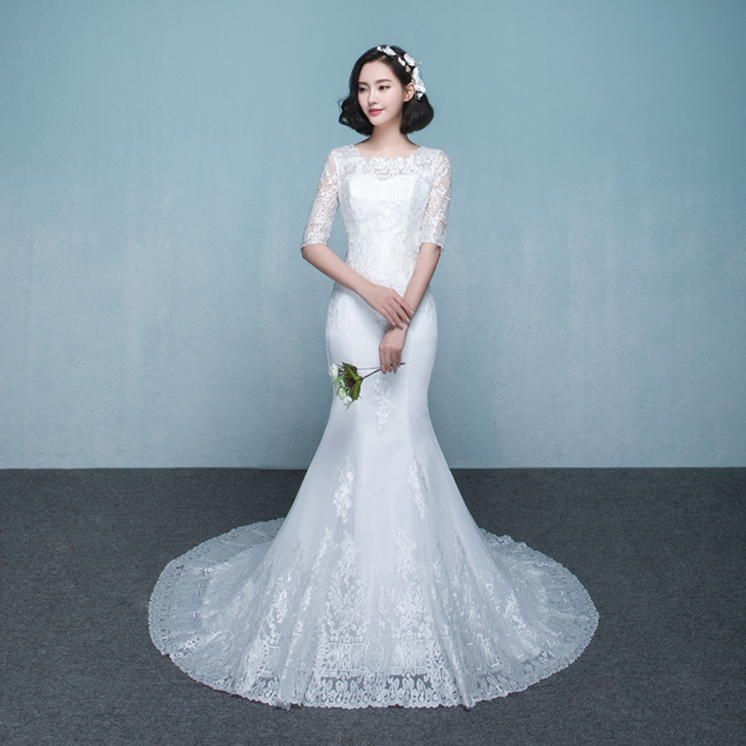 Wedding Collection - Korean Style Romantic Mermaid Style Wedding ...