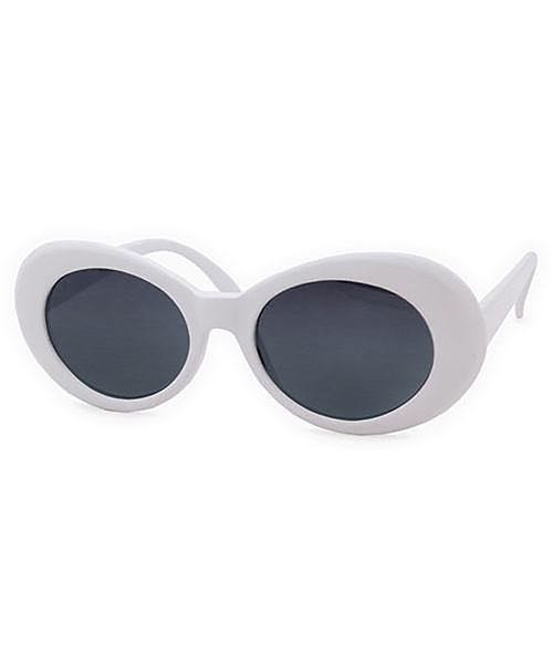 White Curt Cobain inspired sunglasses