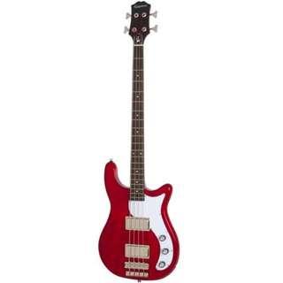 Epiphone Embassy Pro Bass Guitar, Dark Cherry