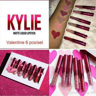 6 in 1 Kylie Matte Lipstick Lip Cream Set