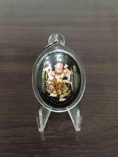 魔魔小舖 泰國佛牌:阿贊更薩(阿贊將薩) 佛曆2560年 哈努曼天神(陶瓷版) 猴神 哈奴曼 哈魯曼