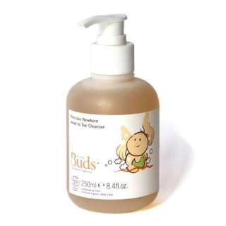 BUDS CHERISHED ORGANICS PRECIOUS NEWBORN HEAD TO TOE CLEANSER 250ML