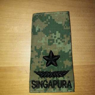 SAF army BG no.4 camo rank