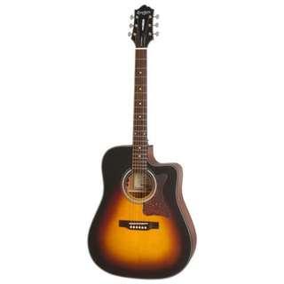 Epiphone Masterbilt DR-400MCE Acoustic Guitar, Vintage Sunburst